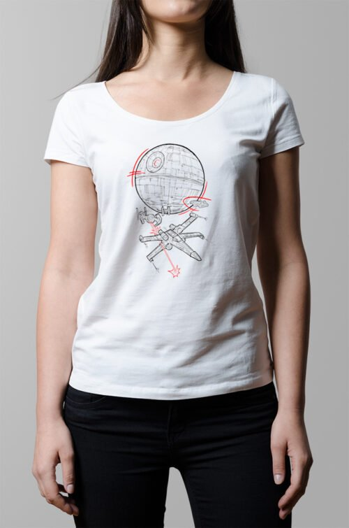 Star Wars Rebellion Ladies' T-shirt - white