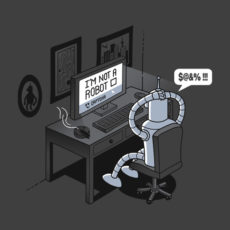 robot problems futurama charcoal t-shirt