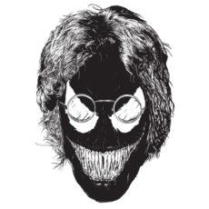 john venom marvel beetles white t-shirt