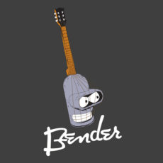 bender funny music charcoal t-shirt