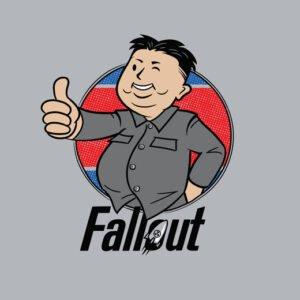 kim jong un fallout steel t-shirt