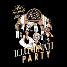 illuminati party funny black t-shirt