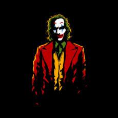 joker silhouette black t-shirt