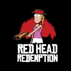 red head redemption gaming parody black tshirt