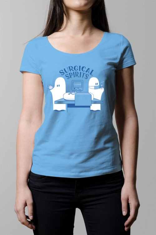 Surgical Spirits Ladies T-shirt - sky blue