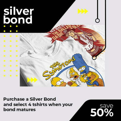 tshirt terrorist silver t-shirt bond for online shop