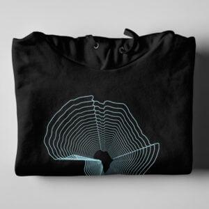 Africa Pop Art Black Hoodie - folded
