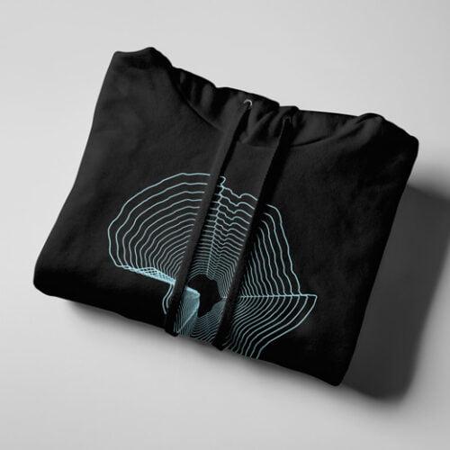 Africa Pop Art Black Hoodie - strings