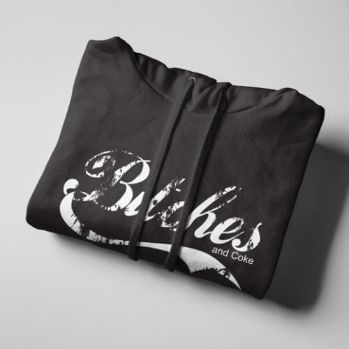 Bitches and Coca-Cola Black Hoodie - strings