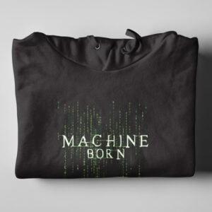 Matrix Neo Machine Born Black Hoodie - folded