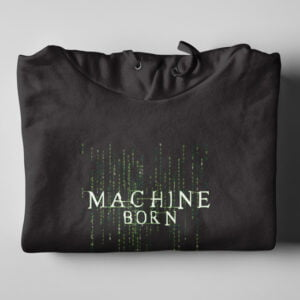 Matrix Neo Machine Born Black Hoodie - folded