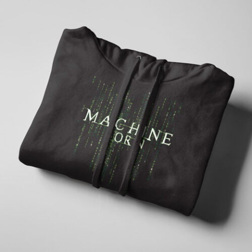 Matrix Neo Machine Born Black Hoodie - strings