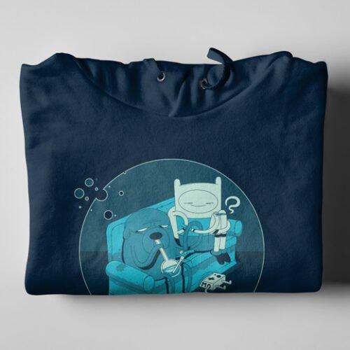 Adventure Time Stoner Navy Blue Hoodie