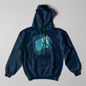 Adventure Time Stoner Navy Blue Hoodie