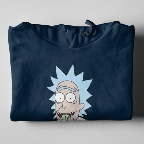 Rick Sanchez as Einstein Navy Blue Hoodie - folded