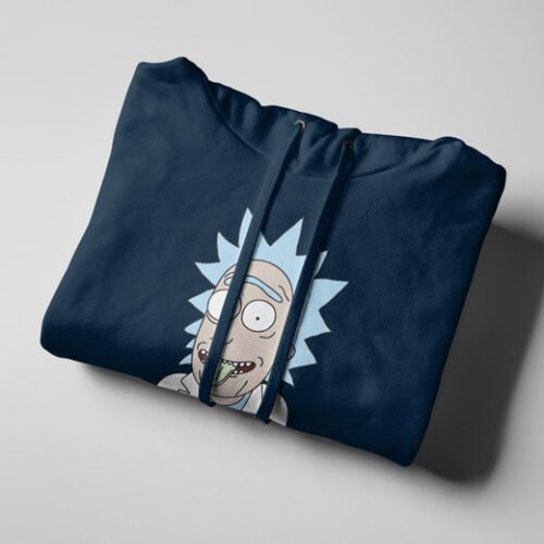 Rick Sanchez as Einstein Navy Blue Hoodie - string