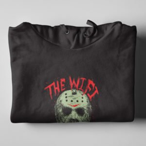 Wi-Fi Is Down Jason Friday 13th Black Hoodie - folded