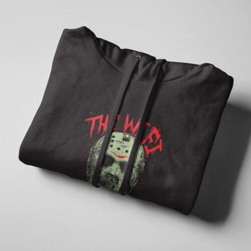 Wi-Fi Is Down Jason Friday 13th Black Hoodie - strings
