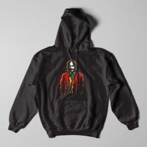 The Joker Fan Art Black Hoodie - flat