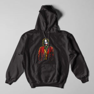 The Joker Fan Art Black Hoodie - flat