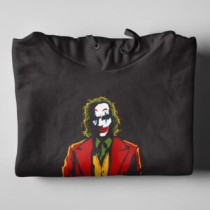 The Joker Fan Art Black Hoodie - folded