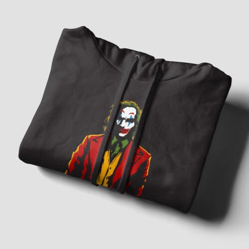 The Joker Fan Art Black Hoodie - strings