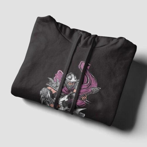 Shredder TMNT Black Hoodie - strings