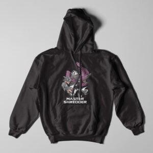 Shredder TMNT Black Hoodie - flat
