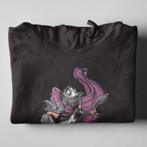 Shredder TMNT Black Hoodie - folded