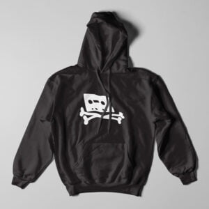 Pirate Bay Piracy Black Hoodie - flat