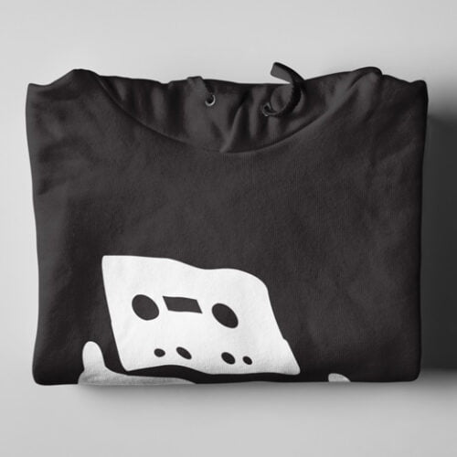 Pirate Bay Piracy Black Hoodie - folded
