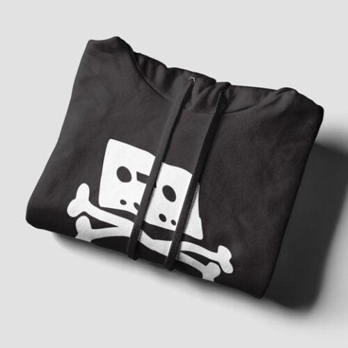 Pirate Bay Piracy Black Hoodie - strings