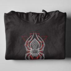 Spider Geometric Black Hoodie - folded