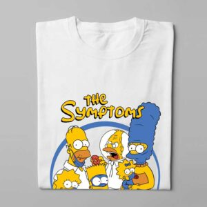 The Simpsons Coronavirus Parody Tee - folded long