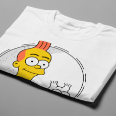 Tintin Simpsons Illustrated Happy Chicken Fitness Cult Men's Tee - white - folded short