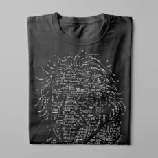 Einstein Gamma-Ray Graphic Design Men's Tee - black - folded long