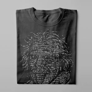 Einstein Gamma-Ray Graphic Design Men's Tee - black - folded long