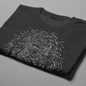 Einstein Gamma-Ray Graphic Design Men's Tee - black - folded short