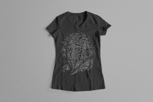 Einstein Gamma-Ray Graphic Design Ladies' Tee - black