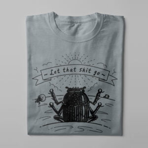Dung Beetle Gamma-Ray Graphic Design Men's Tee - steel grey - folded long