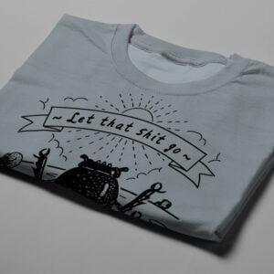 Dung Beetle Gamma-Ray Graphic Design Men's Tee - steel grey - folded short