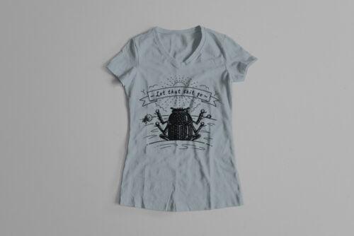 Dung Beetle Gamma-Ray Graphic Design Ladies' Tee - steel grey