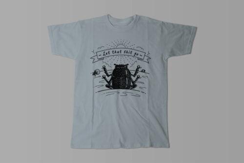 Dung Beetle Gamma-Ray Graphic Design Men's Tee - steel grey