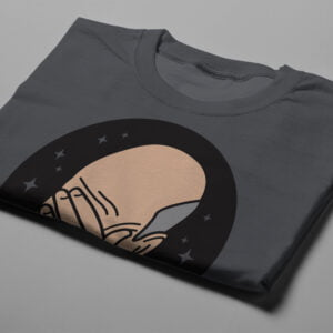 Facepalm Star Trek Meme Gamma-Ray Graphic Design Men's Tee - charcoal - folded short