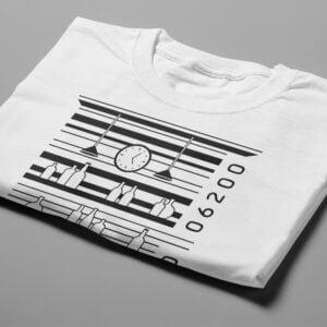 Bar Code Gamma-Ray Graphic Design Men's Tee - white - folded short