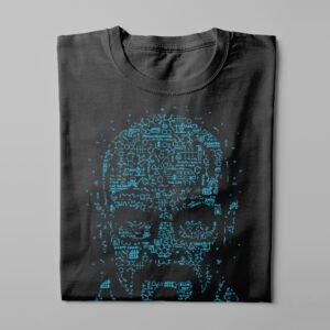 Let's Cook Heisenberg Gamma-Ray Graphic Design Men's Tee - black - folded long