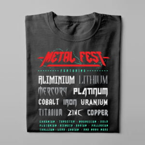 Metal Fest Parody Gamma-Ray Graphic Design Men's Tee - black - folded long