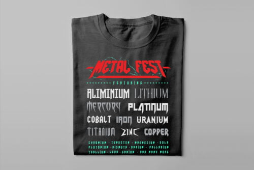 Metal Fest Parody Gamma-Ray Graphic Design Men's Tee - black - folded long