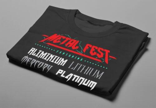 Metal Fest Parody Gamma-Ray Graphic Design Men's Tee - black - folded short