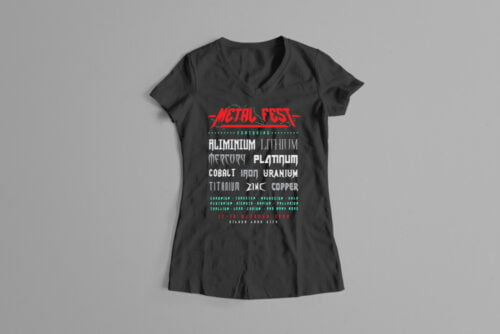 Metal Fest Parody Gamma-Ray Graphic Design Ladies' Tee - black